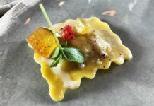 Ristorane amiglia Rana raviolo zucca taleggio mostarda