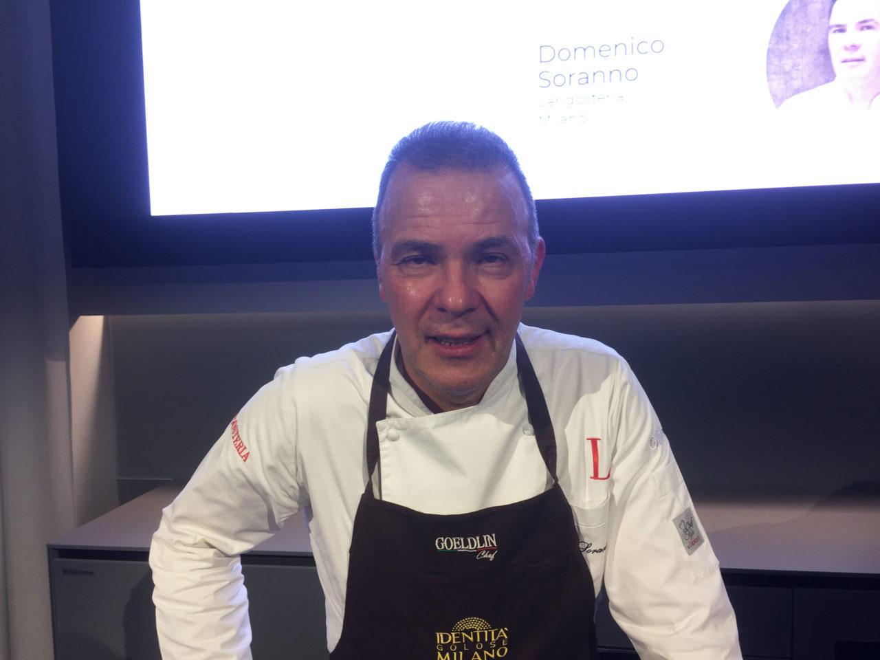 lo chef di Langosteria, Domenico Soranno