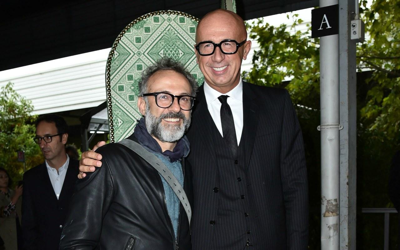 Massimo Bottura e Marco Bizzarri, CEO Gucci, inaugurazione Gucci osteria Beverly Hills