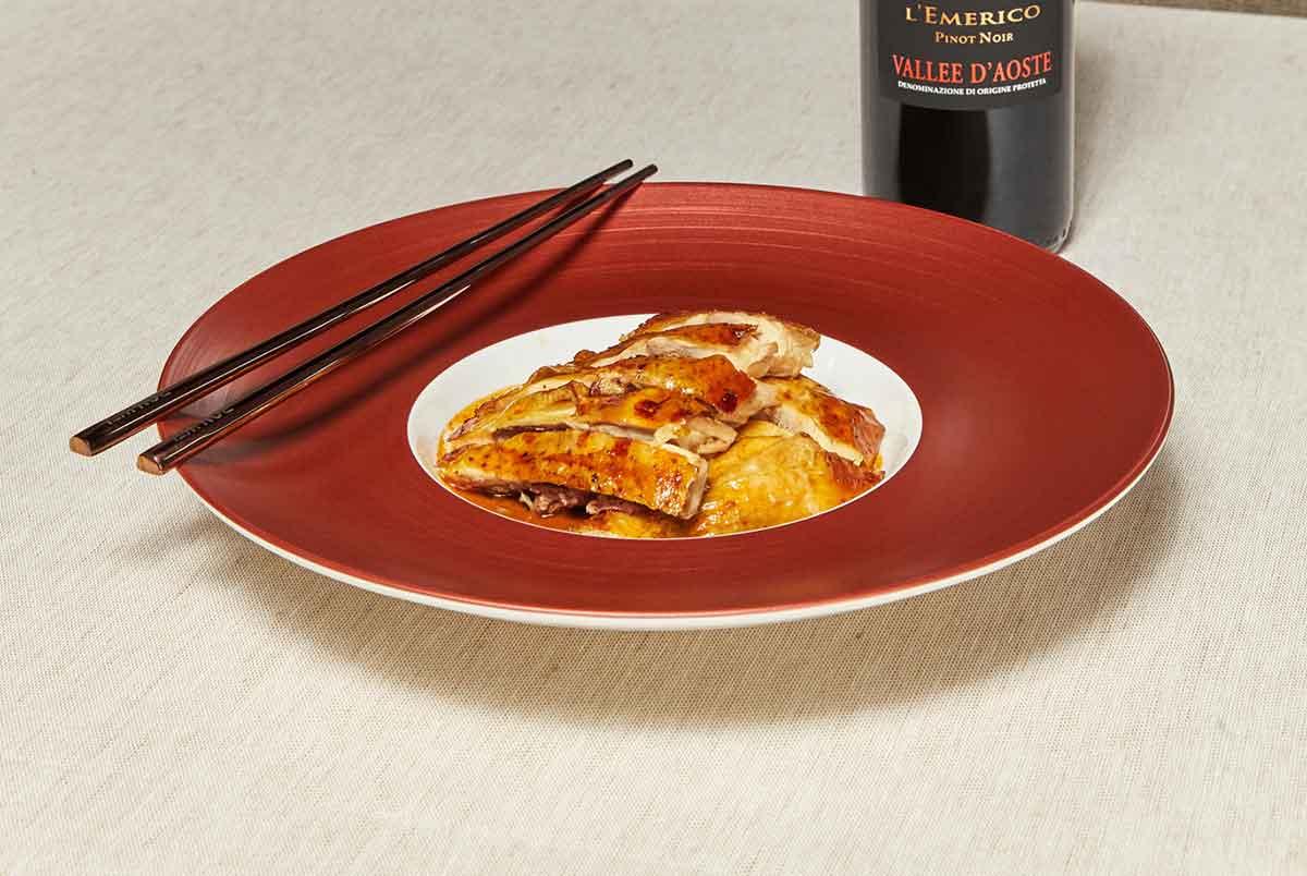 il pollo del mercante di canton dello chef Zhang ristorante bob wei milano