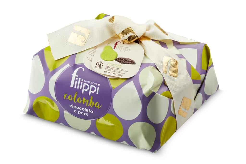 filippi colomba di Pasqua cioccolato pere