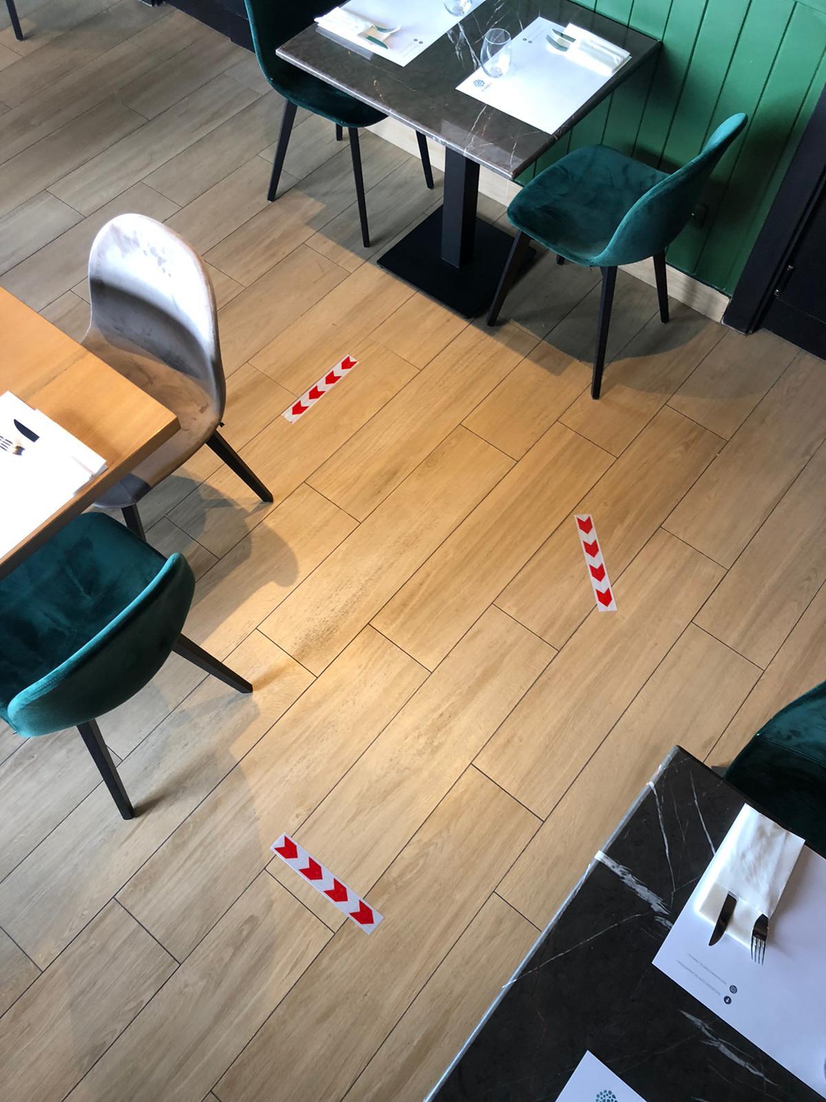 distanza tra tavoli per coronavirus