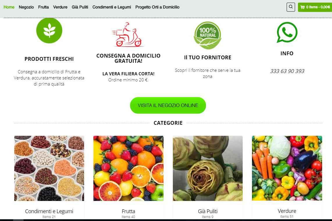 consegna a domicilio di frutta e verdura a Roma