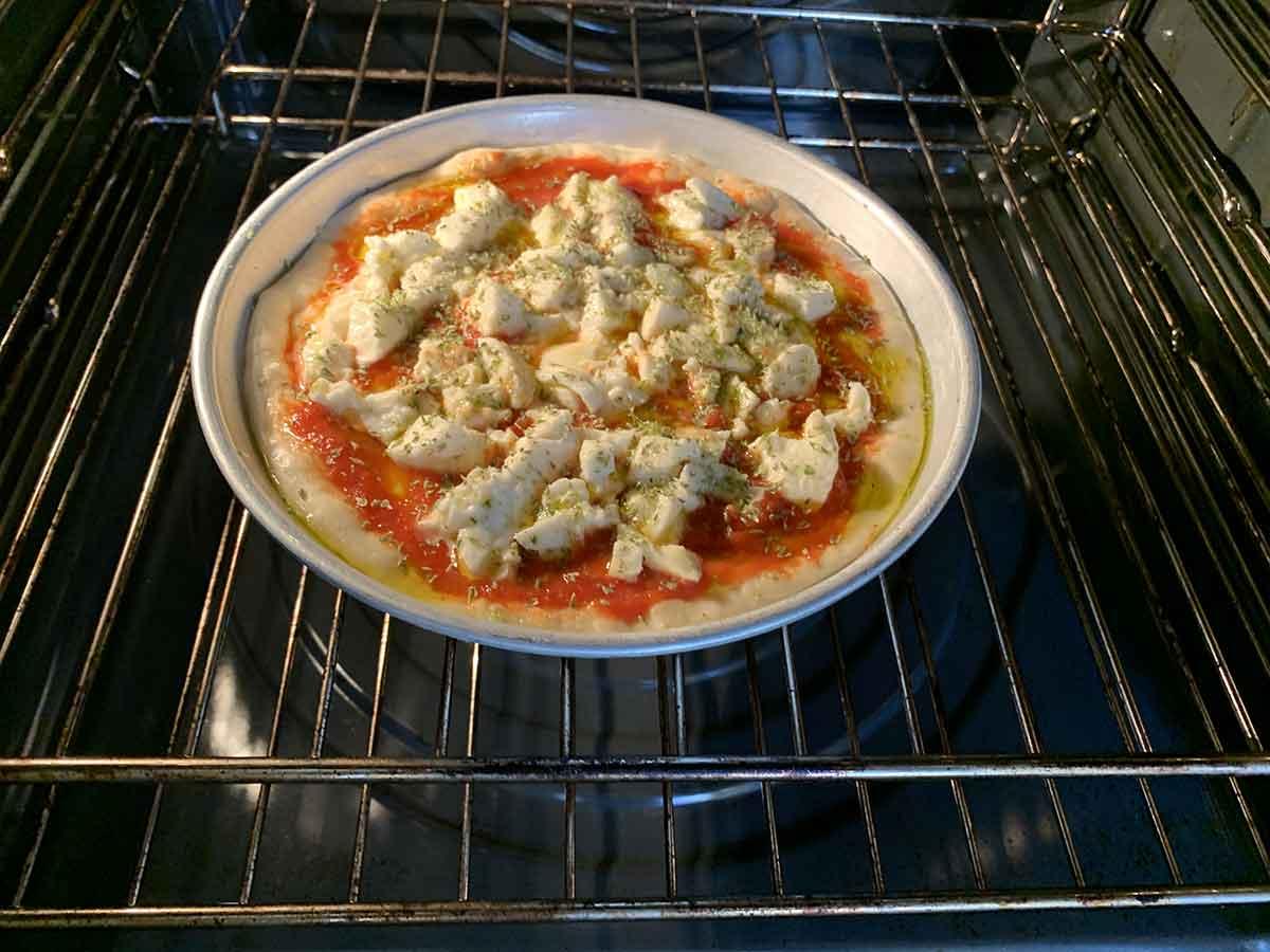pizza nel forno di casa