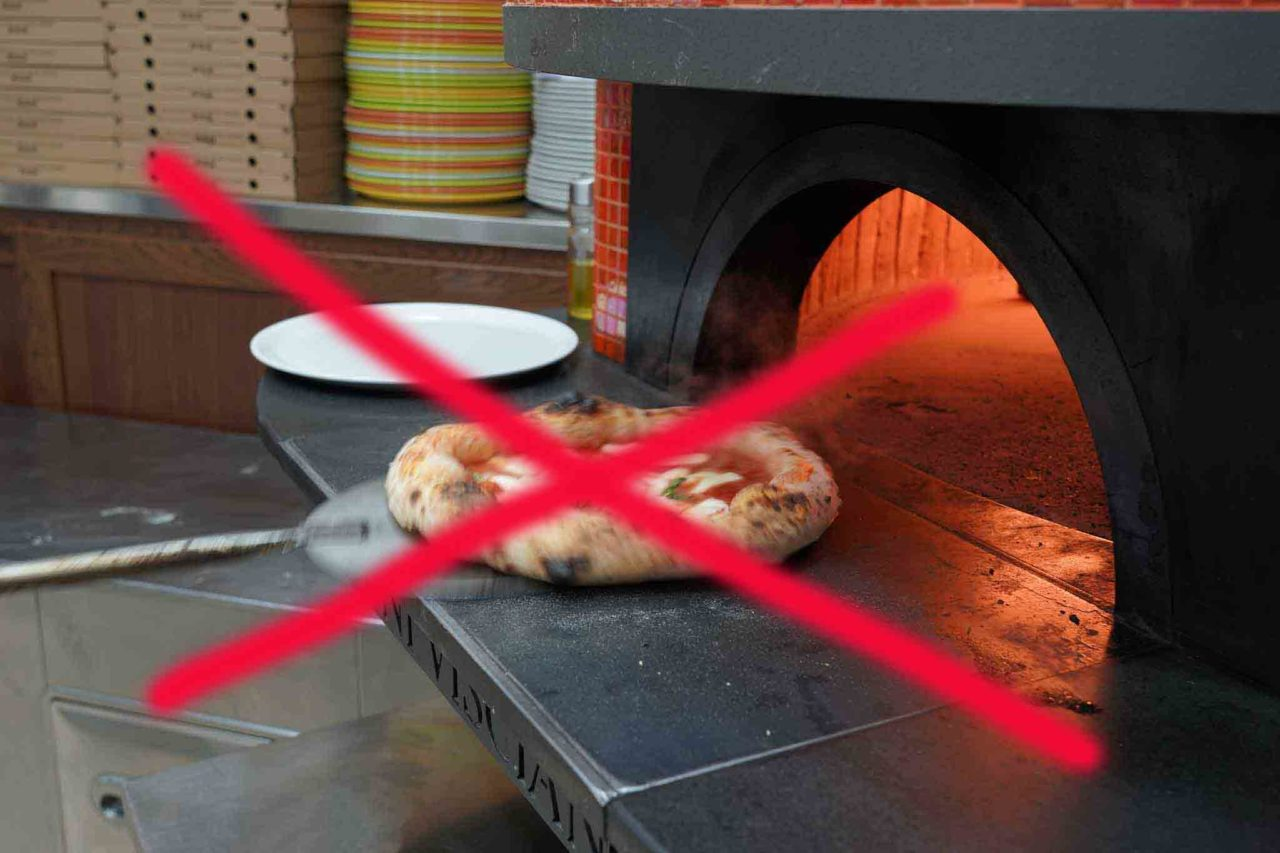 pizza al forno vietata