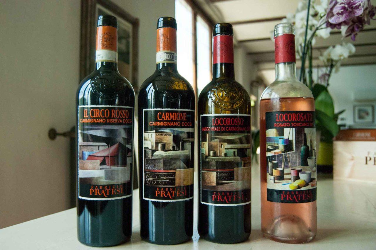 I vini di Fabrizio Pratesi, presidente del consorzio del Carmignano DOC