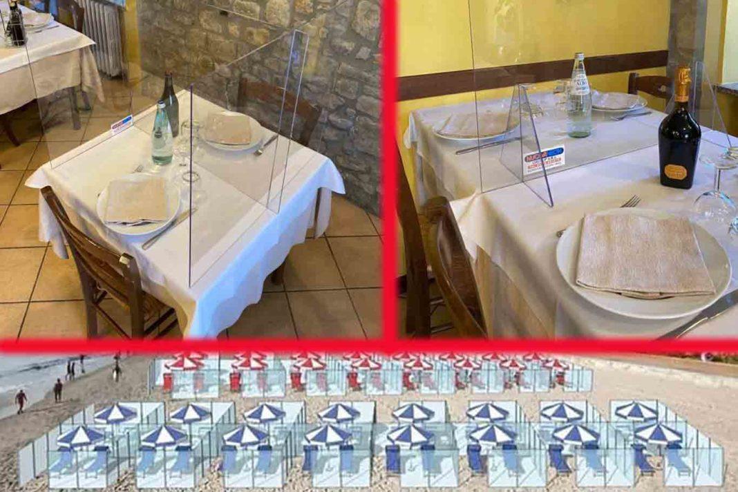 Tavoli In Plastica Per Bar.Coronavirus Tavoli Con Plexiglass E Divisori In Spiaggia E Tutto