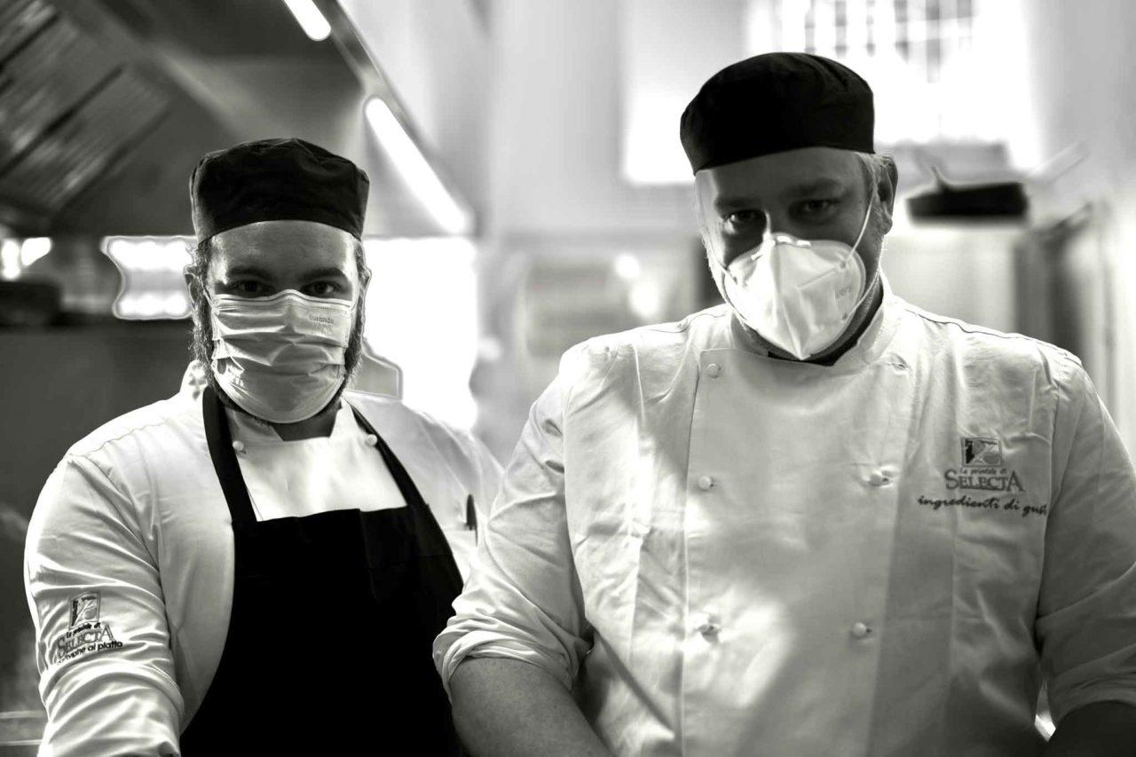 dispositivi di protezione per chef e personale di cucina