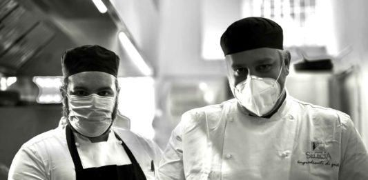 chef con mascherine