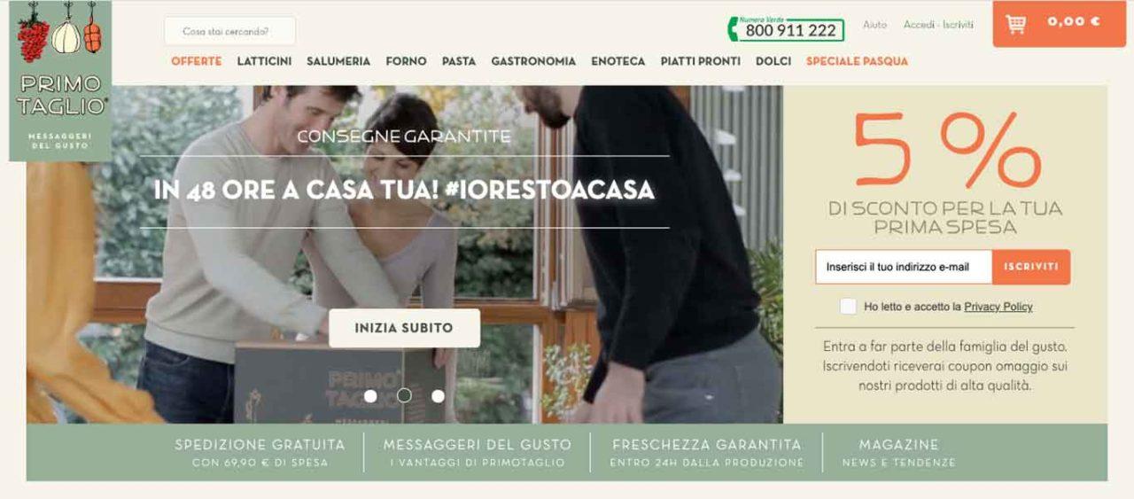 Primo Taglio sito per la spesa online
