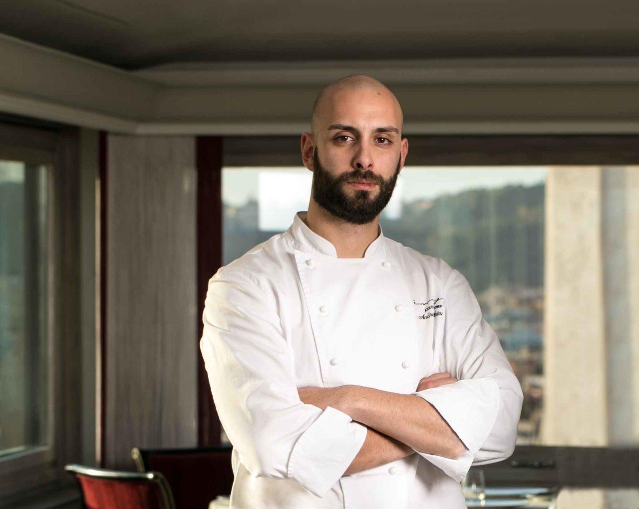 Andrea Antonini chef del ristorante Imago all'Hotel Hassler di Roma, stella Michelin