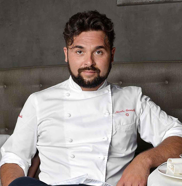 Nicola Gronchi chef del ristorante di pesce Romano a Viareggio
