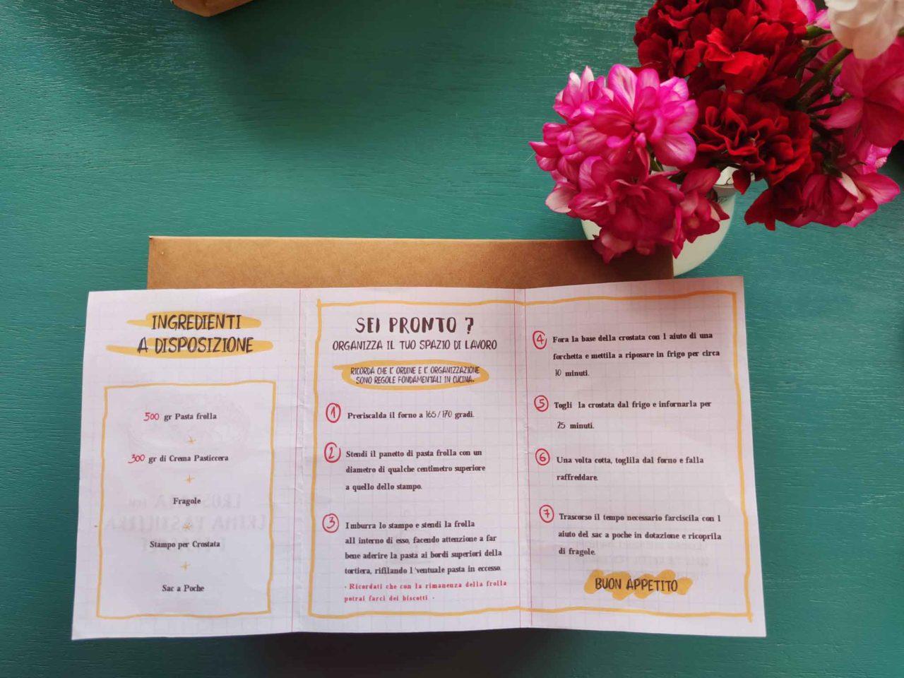 istruzioni per preparare la crostata in kit