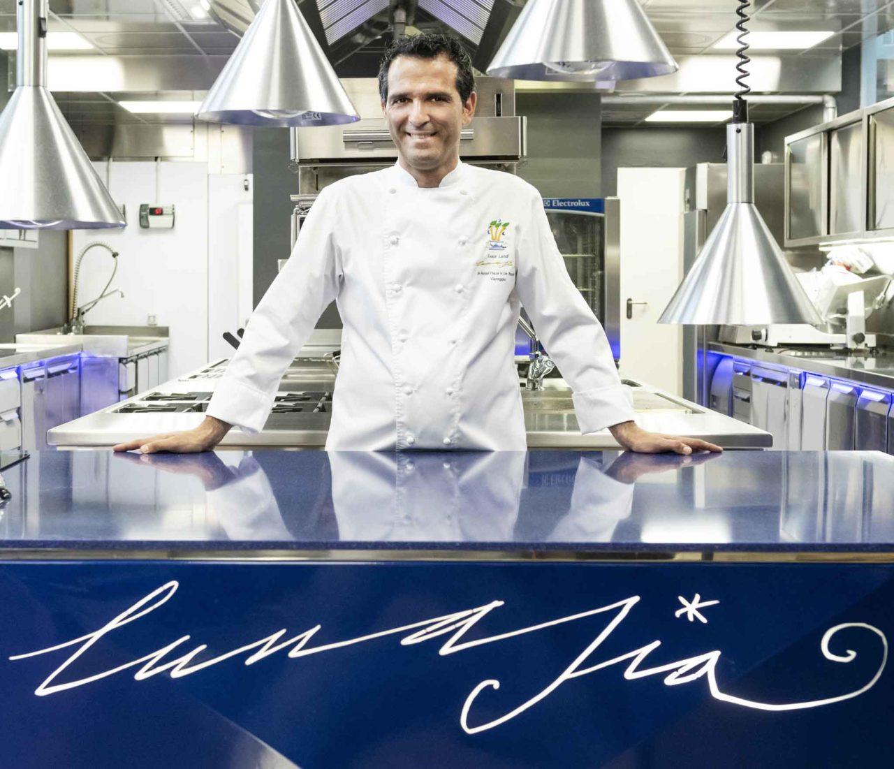 Luca Landi chef del ristorante stellato Lunasia a Viareggio