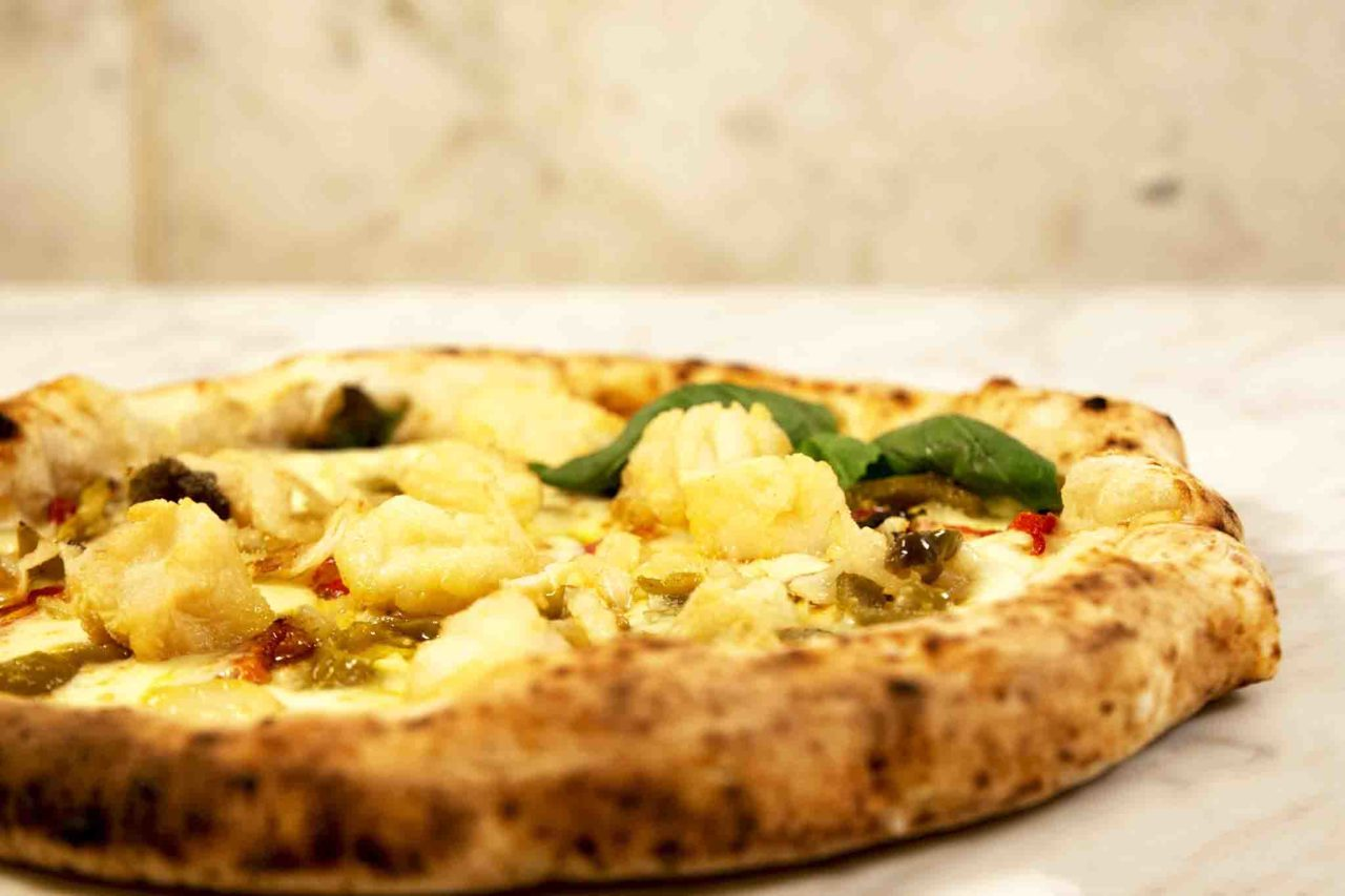 pizza con il baccalà Umberto