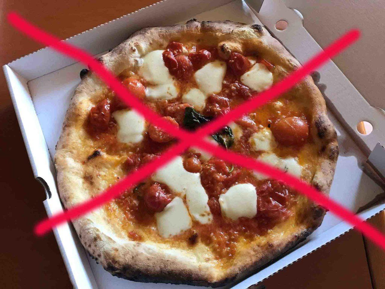 pizza da asporto vietata