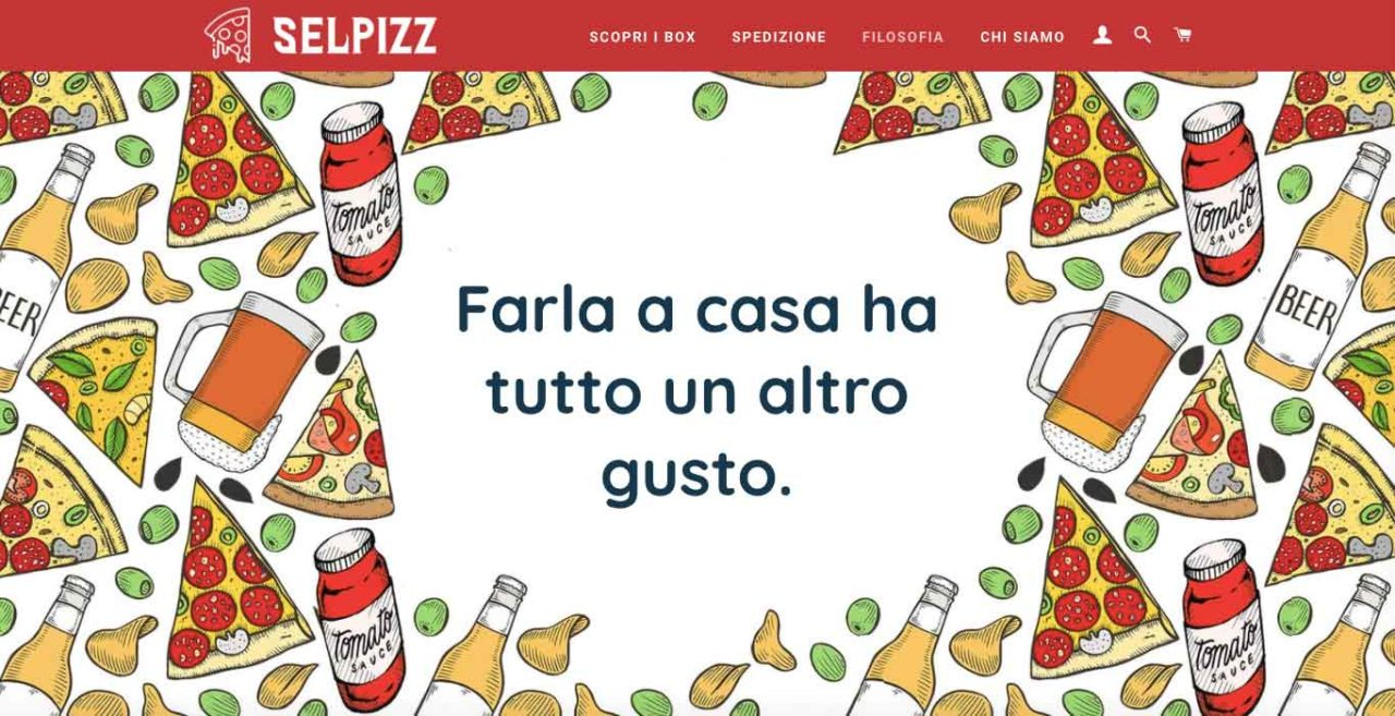 Selpizz, homepage