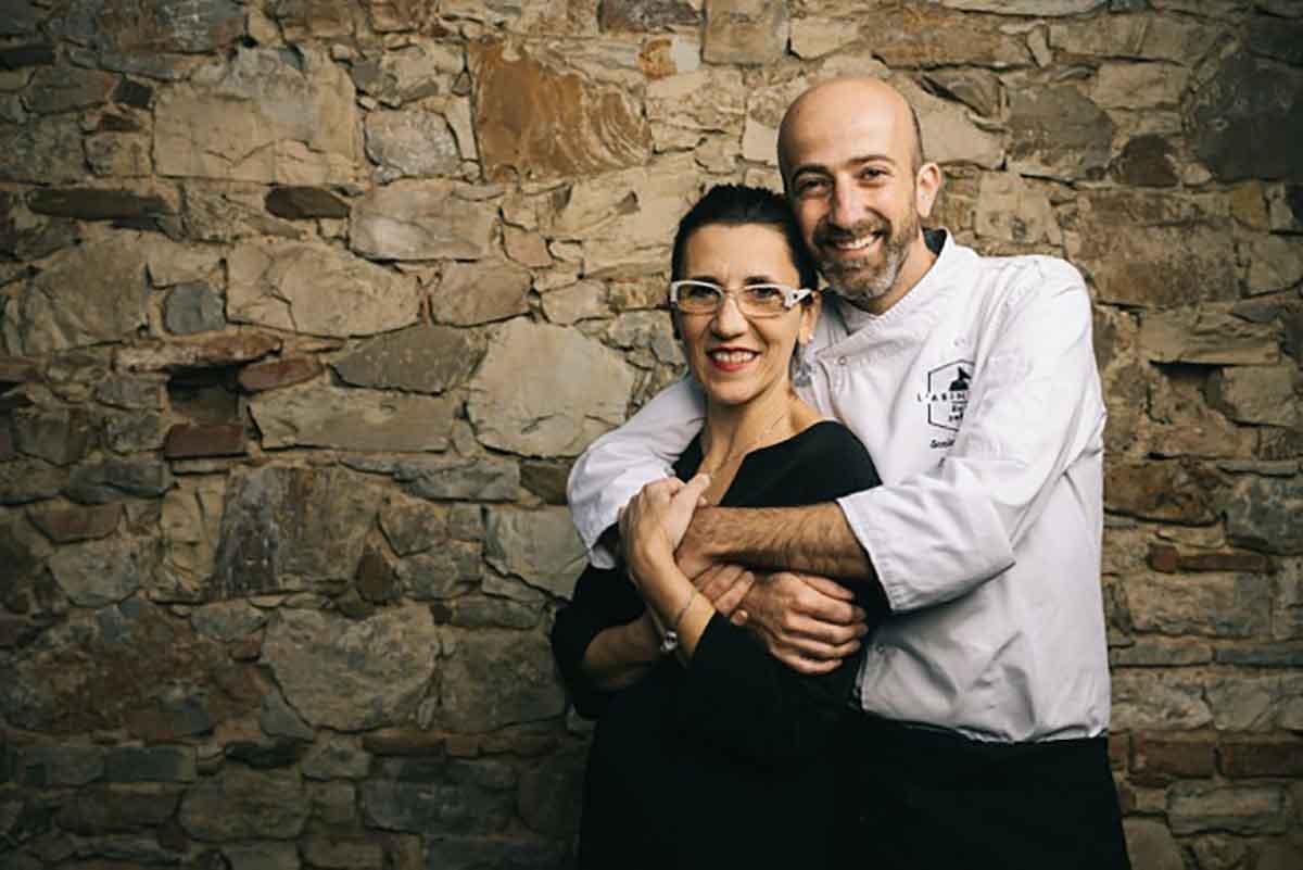 Senio Venturi chef del ristorante L'asinello a Castelnuopvo Berardenga