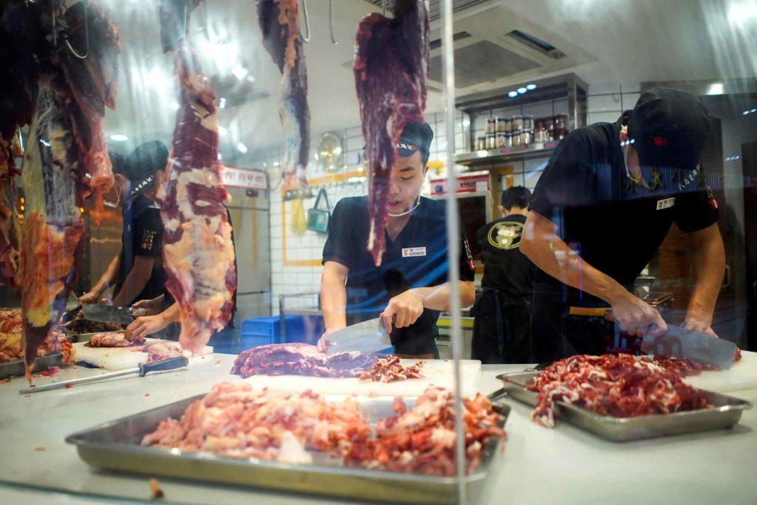 taglio carne in Cina