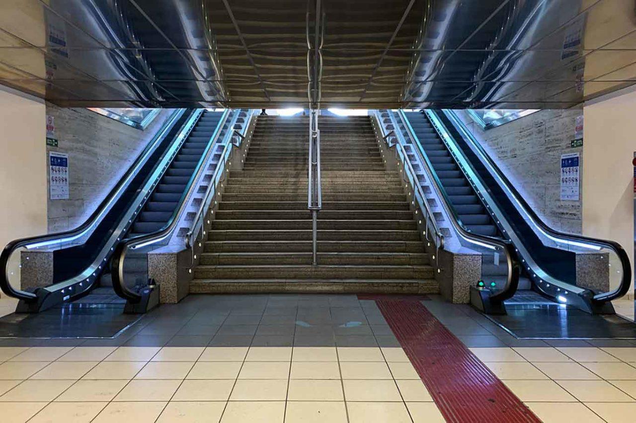 Stazione Termini deserta per il Coronavirus