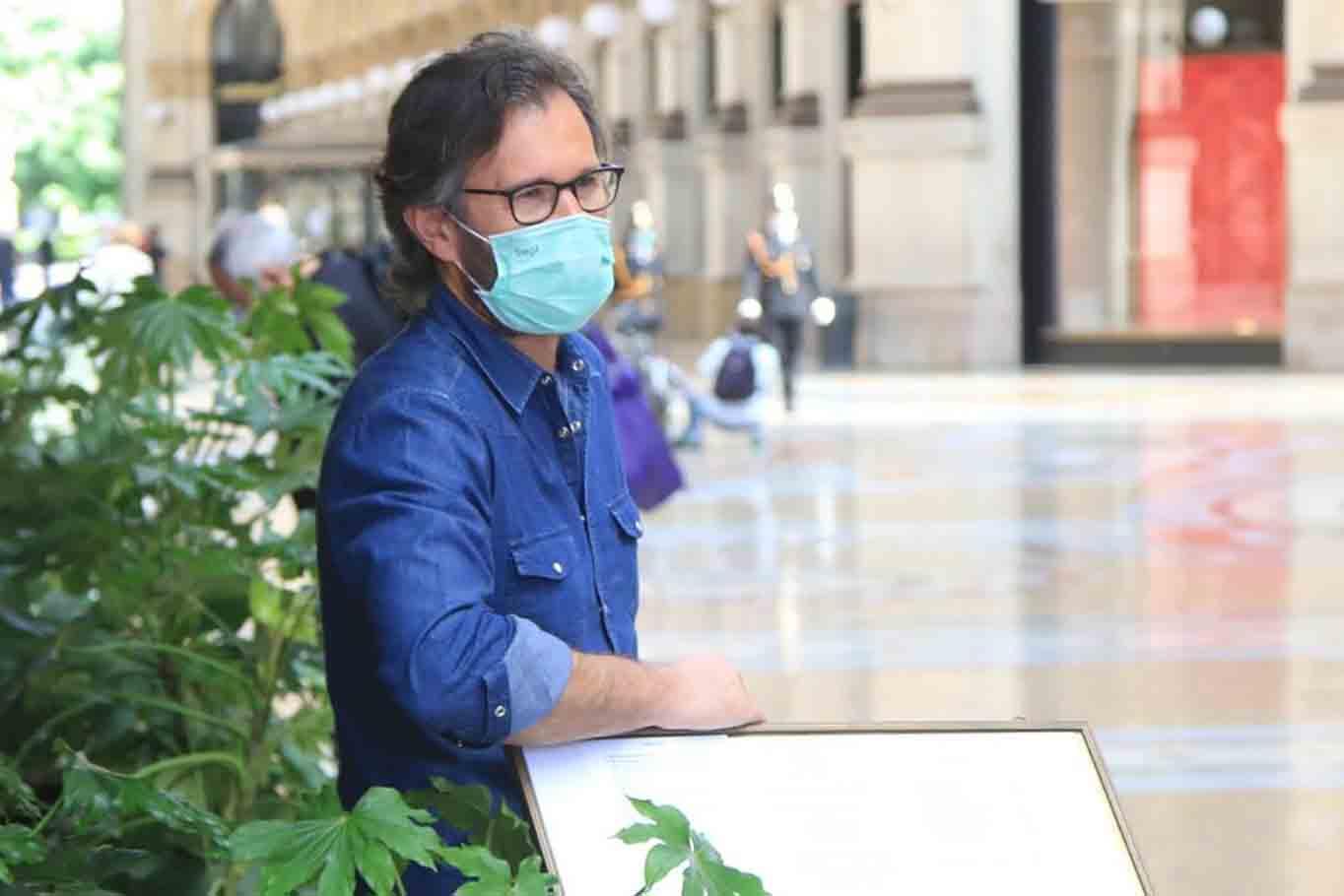 Carlo Cracco delivery mascherina