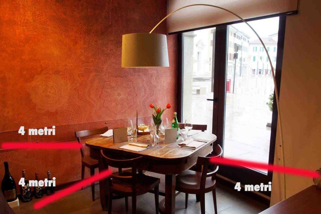 coronavirus tavolo ristorante distanza