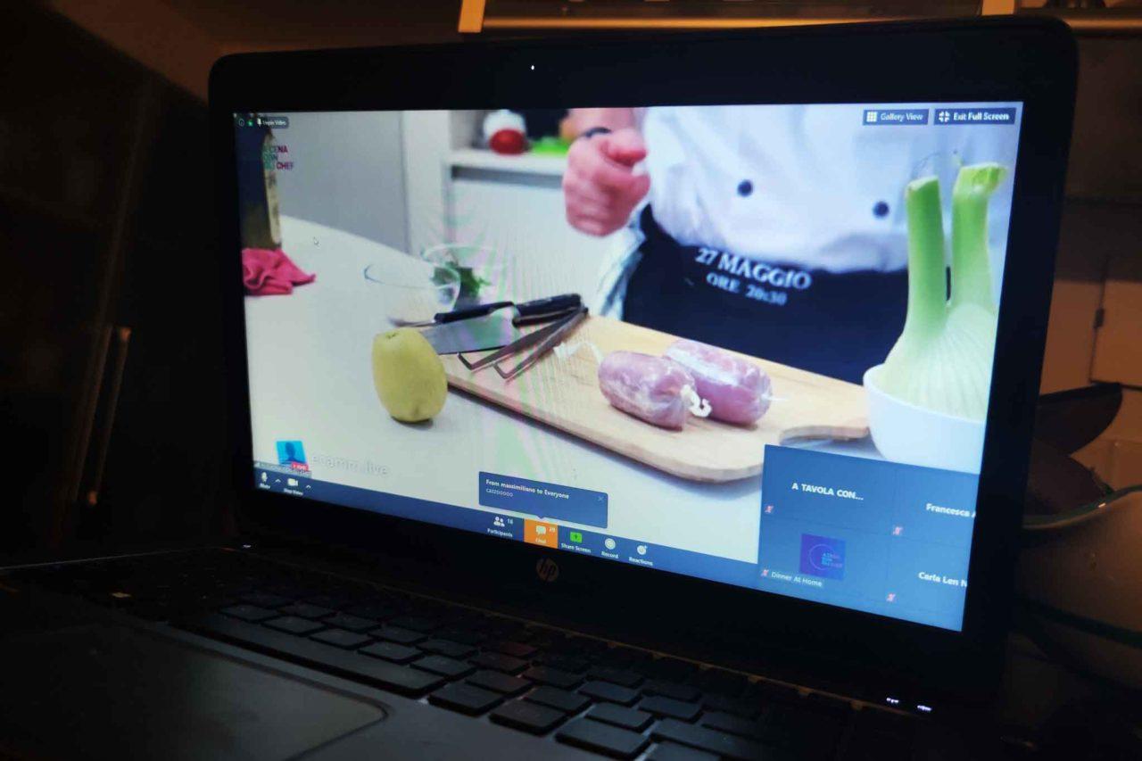 giuseppe di iorio insegna a lavorare il filetto di maiale in diretta