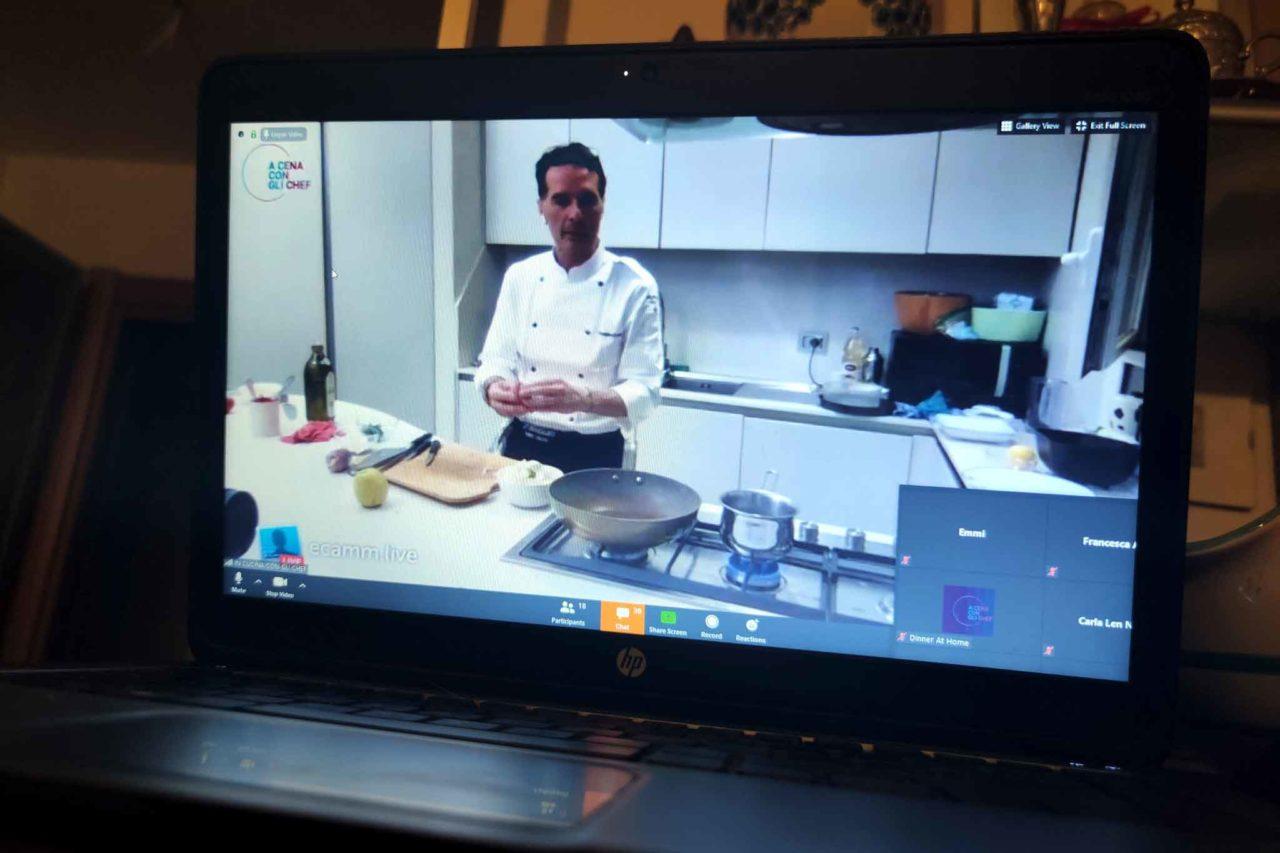 Giuseppe di Iorio in diretta su Dinner at home