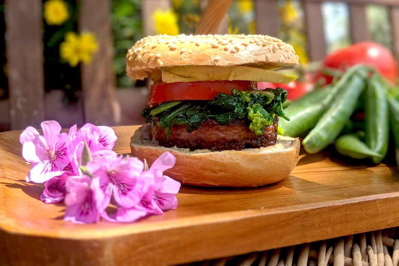 hamburger plant-based di Vivi Bistrot