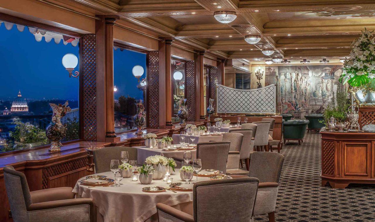 il ristorante 3 stelle Michelin La Pergola all'Hotel Rome Cavalieri Waldorf Astoria