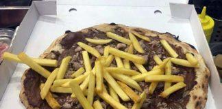 pizza nutella patatine salsiccia asporto