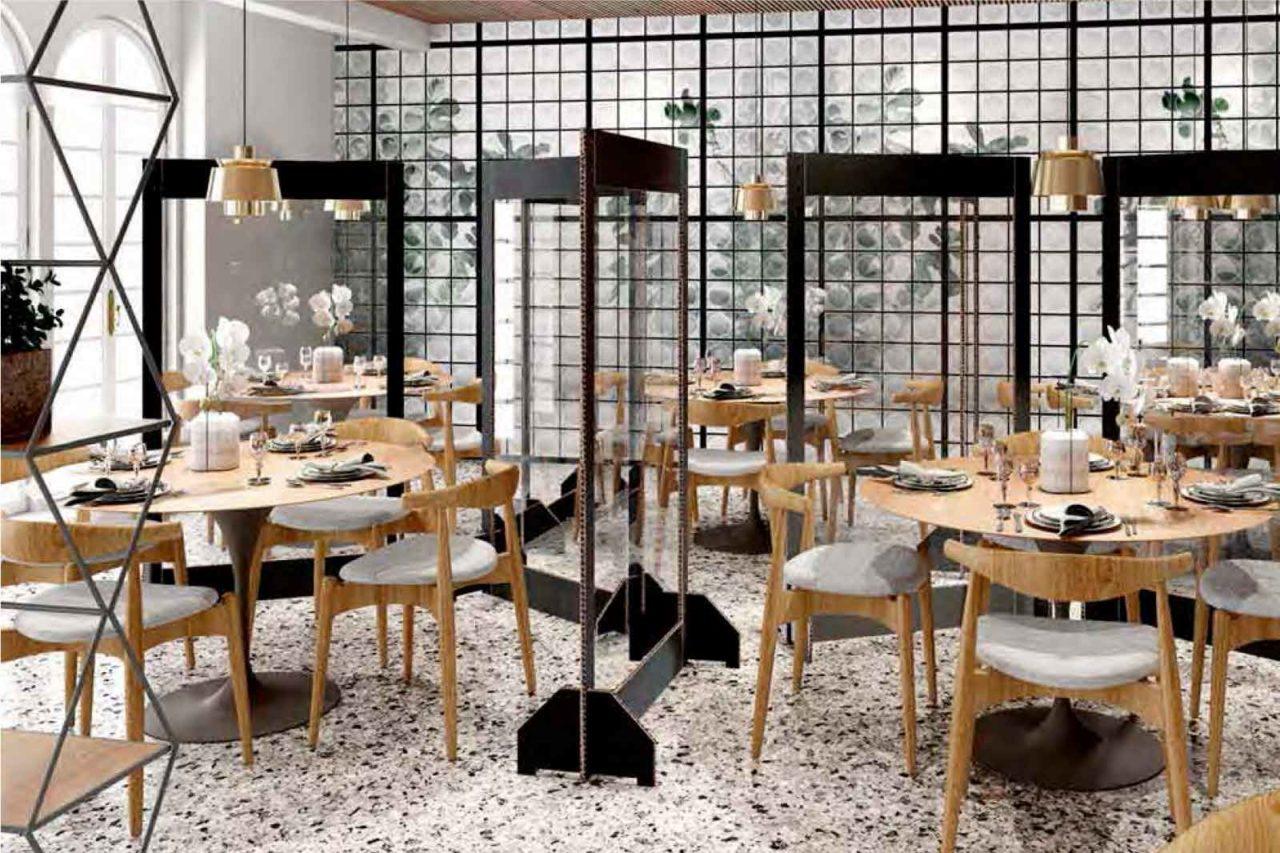separatori e distanze tavoli ristoranti e contagio