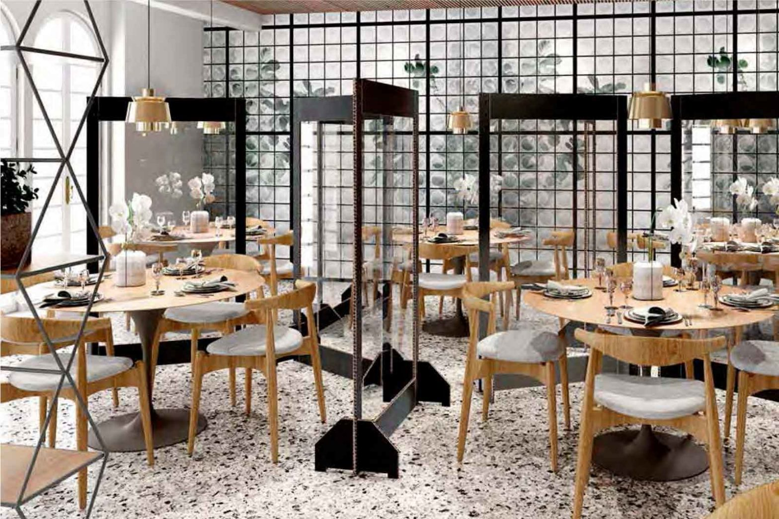 separatori e distanze tavoli ristoranti