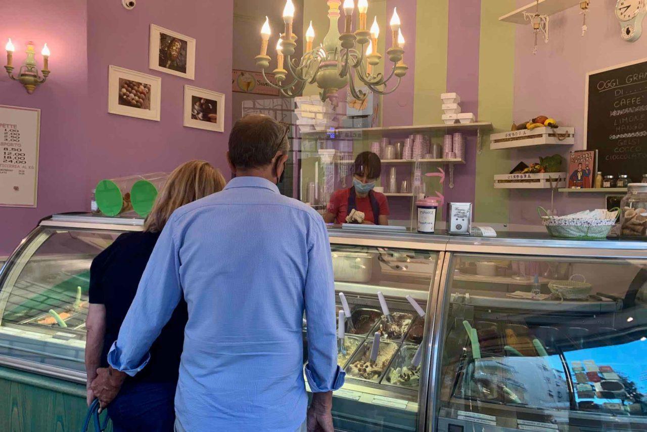 Cremeria Aurelia gelateria Roma banco gelati