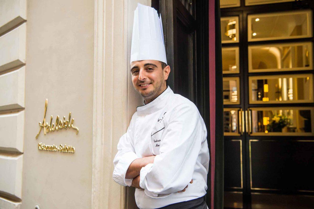Gabriele Muro chef del ristorante Adelaide al Vilòn