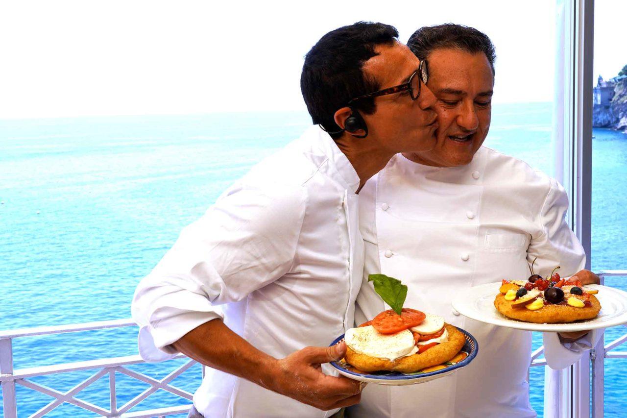 Gino Sorbillo e Sal De Riso con le montanare dolci e salate