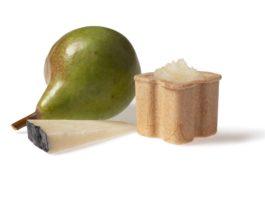 Food design: ini pecorino romano pera caramellata