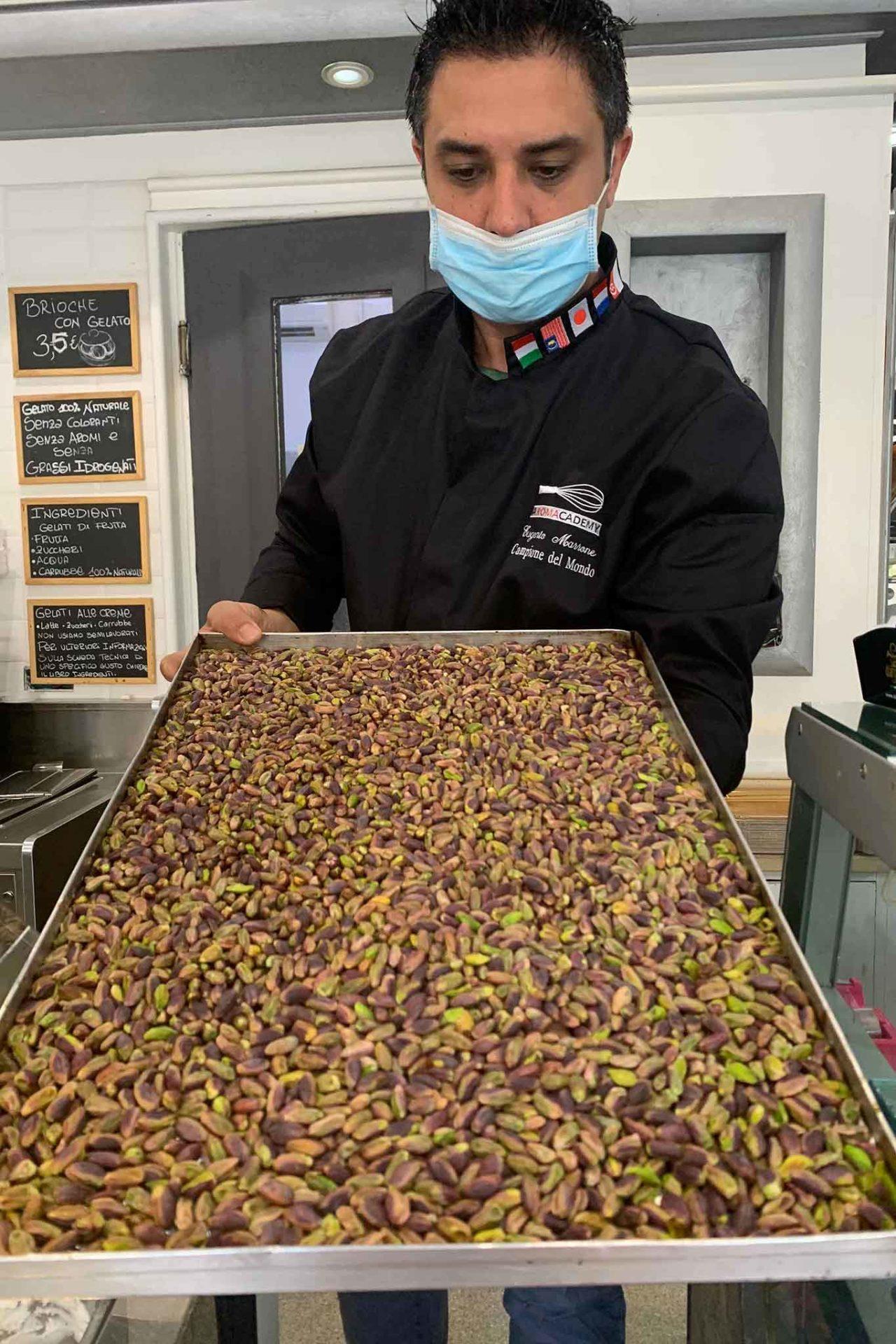 Il Cannolo Siciliano gelateria Roma Eugenio Morrone pistacchi