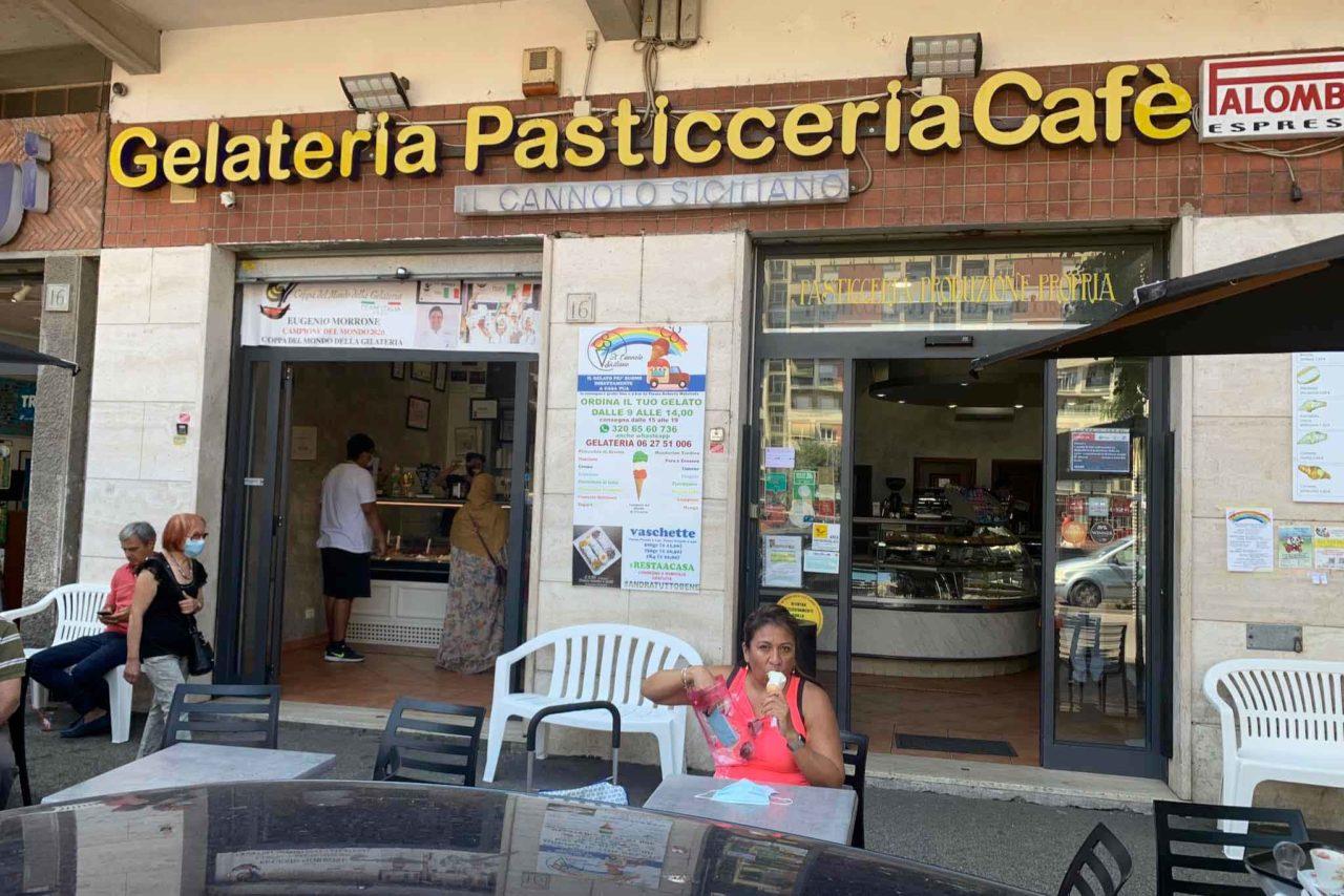 Il Cannolo Siciliano gelateria Roma insegna
