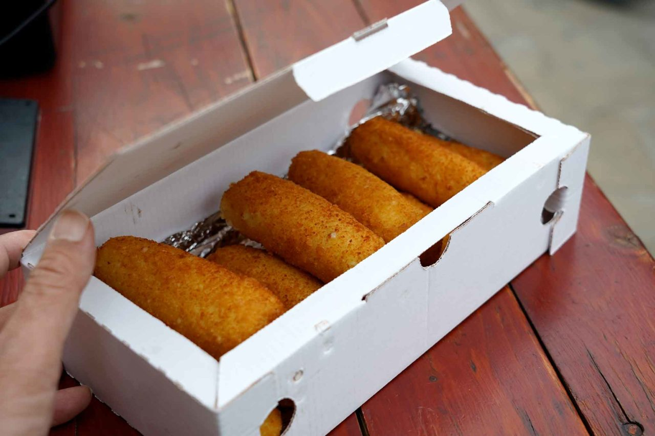 street food: crocchè da asporto