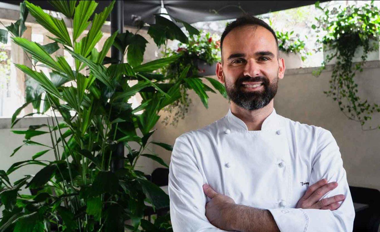 Federico Cari chef del Dafne Garden Cafè