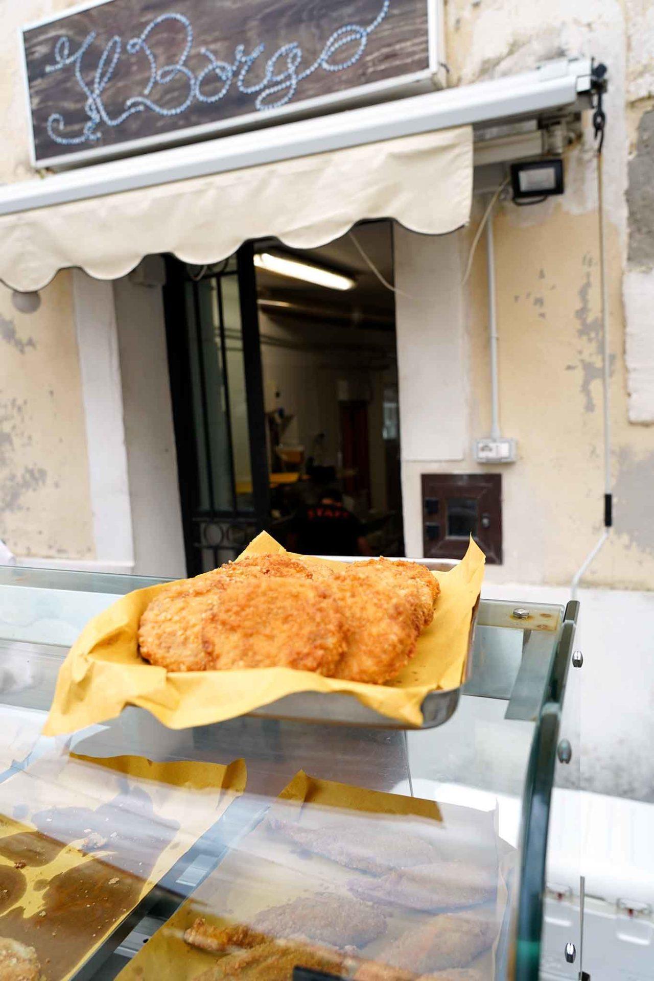 bancarella di street food