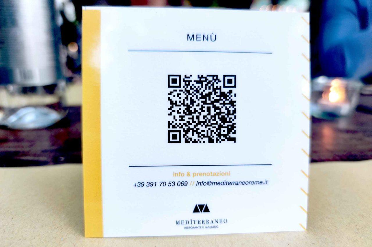 menu digitale del Mediterraneo al Maxxi
