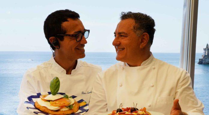 montanare fritte Gino Sorbillo e Sal De Riso in Costiera Amalfitana