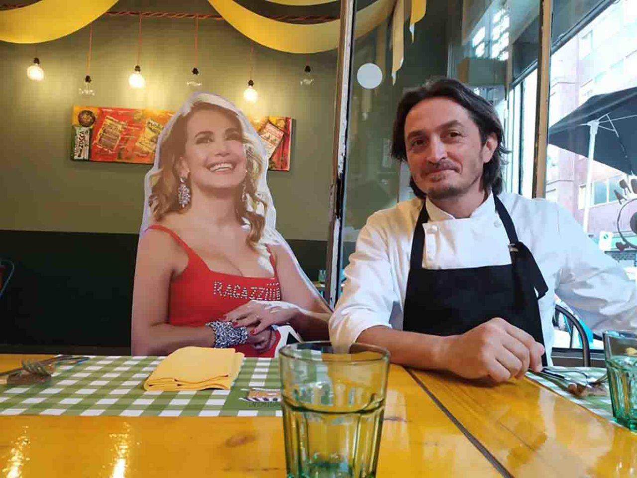 ristorante Consorzio Stoppani Milano sagome al tavolo