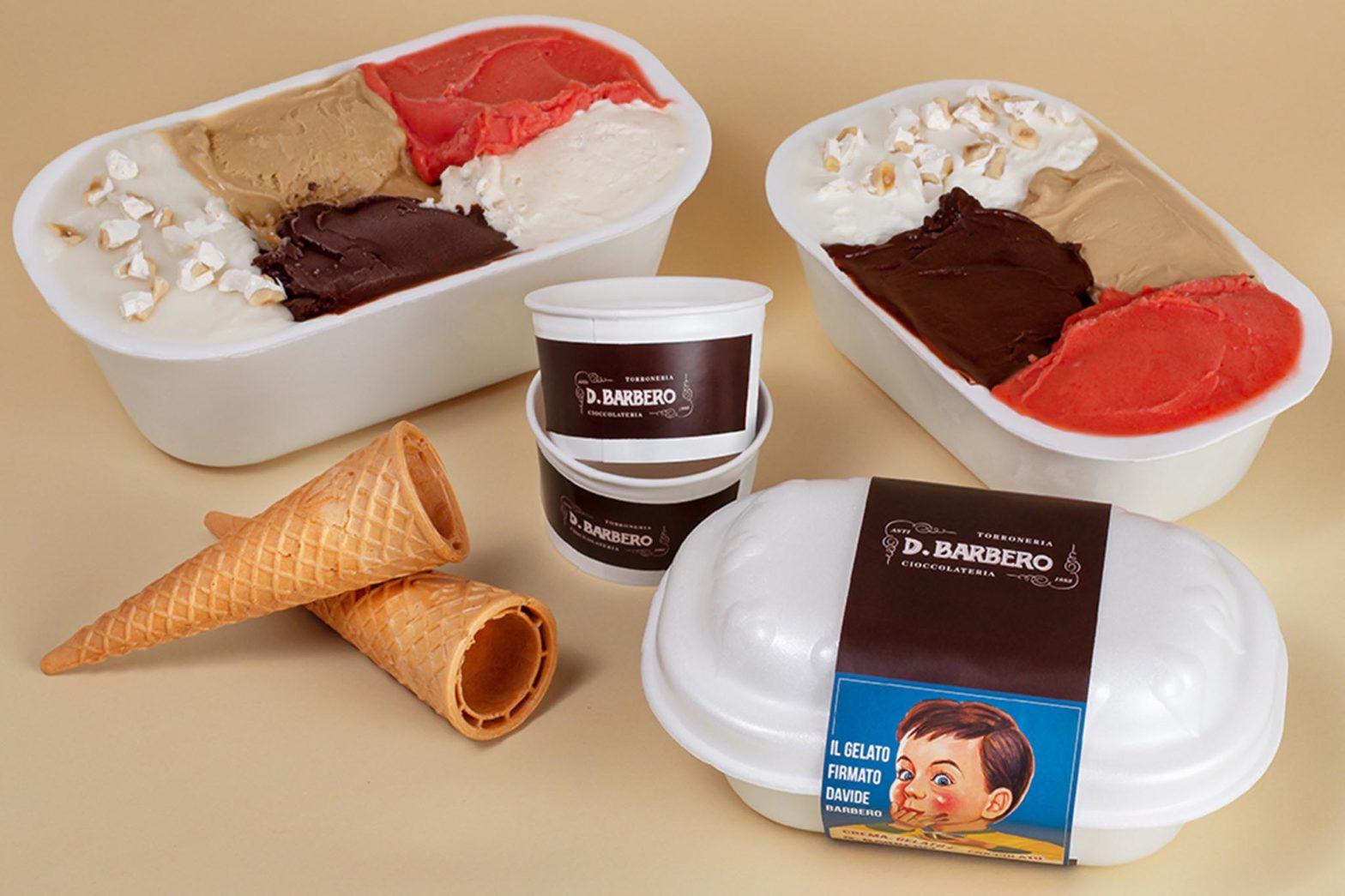 vaschette gelato ordinabile online Davide Barbero