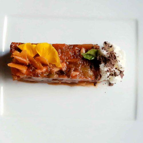 Caponata ricetta cioccolato mandorle bottarga Santino Nicosia