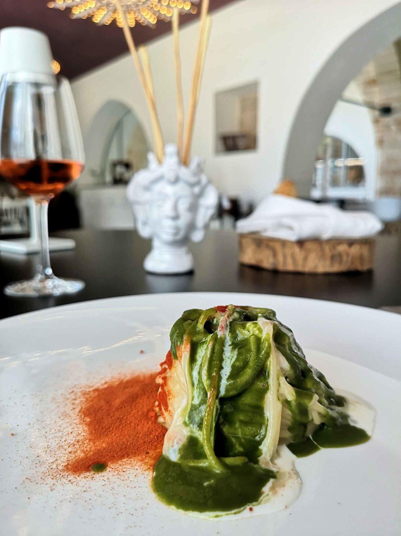 spaghetti Casamatta ristorante stellato Manduria