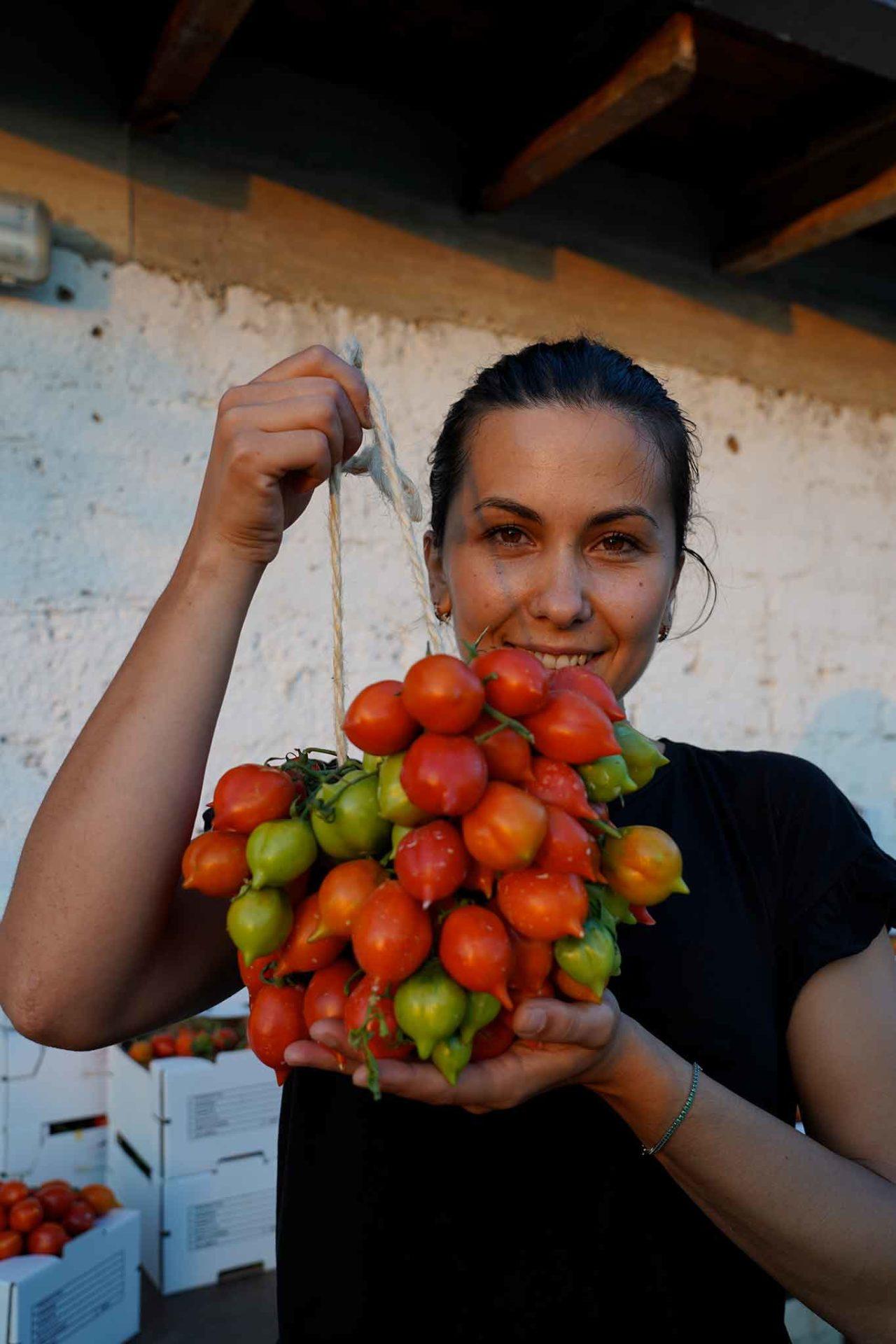 Giovanna Nocerino e i pomodorini del piennolo
