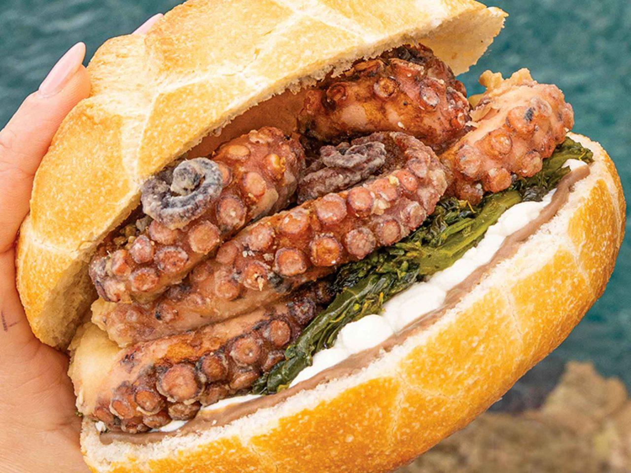 Pescaria panino con polpo arrosto